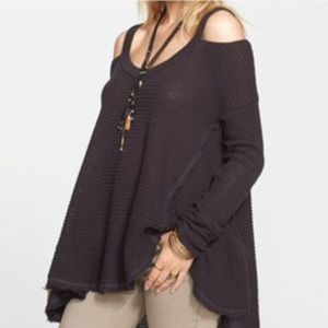 Free People Moonshine cold shoulder sweater XS